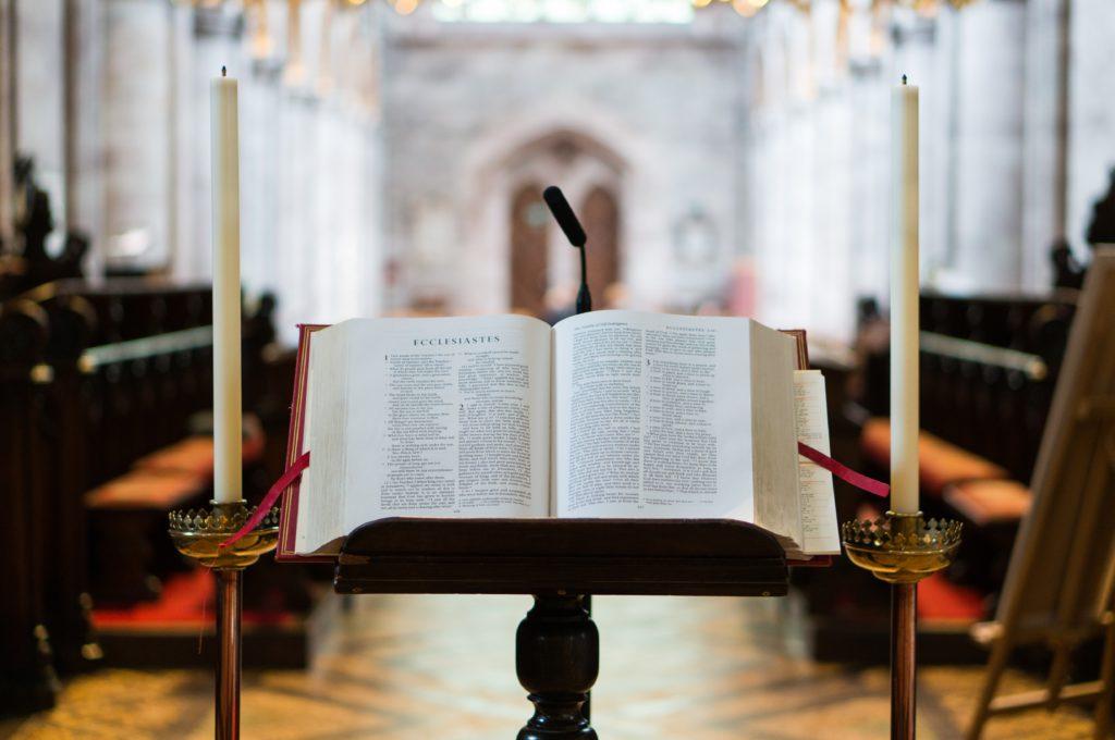 Bible open to Ecclesiastes