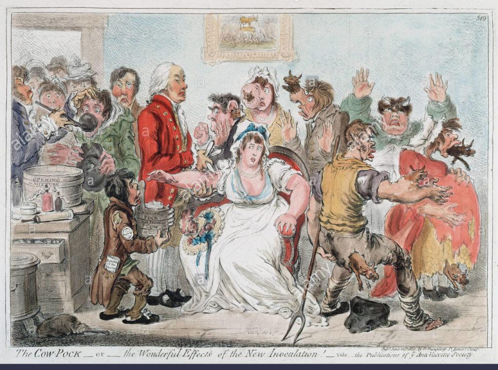 Gilray cartoon about cowpox vaccine