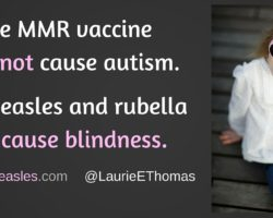 MMR does not cause autism; but measles, mumps, and rubella can cause blindness.